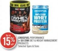 Crossfuel Performance or Six Star Diet & Weight Management Products