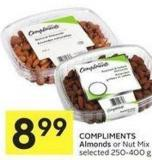 Compliments Almonds or Nut Mix