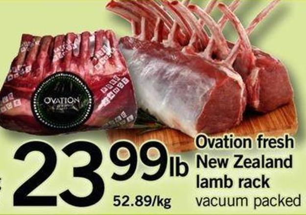Ovation Fresh New Zealand Lamb Rack