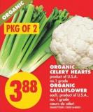 Organic Celery Hearts - Organic Cauliflower - Each