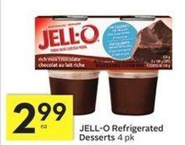 Jell-o Refrigerated Desserts