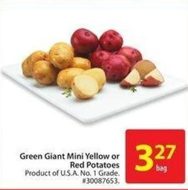 Green Giant Mini Yellow or Red Potatoes