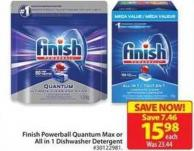 Finish Powerball Quantum Max or All In 1 Dishwasher Detergent