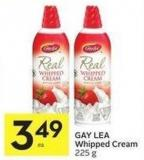 Gay Lea Whipped Cream 225 g