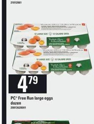 PC Free-run Large Eggs - Dozen