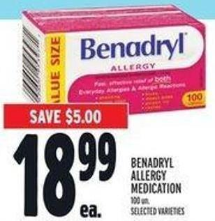 Benadryl Allergy Medication