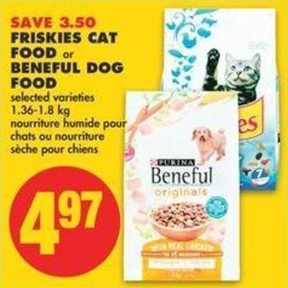 Friskies Cat Food Or Beneful Dog Food - 1.36-1.8 Kg