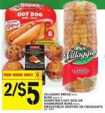 Villaggio Bread 675 G Or Buns Pack Pack 6-8 Or Hamburger Buns Pack 8 - Or Irresistibles Muffins Or Croissants 260-600 G