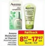Aveeno Moisturizer or Cleanser