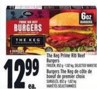 The Keg Prime Rib Beef Burgers Frozen - 852 g - 1.02 Kg