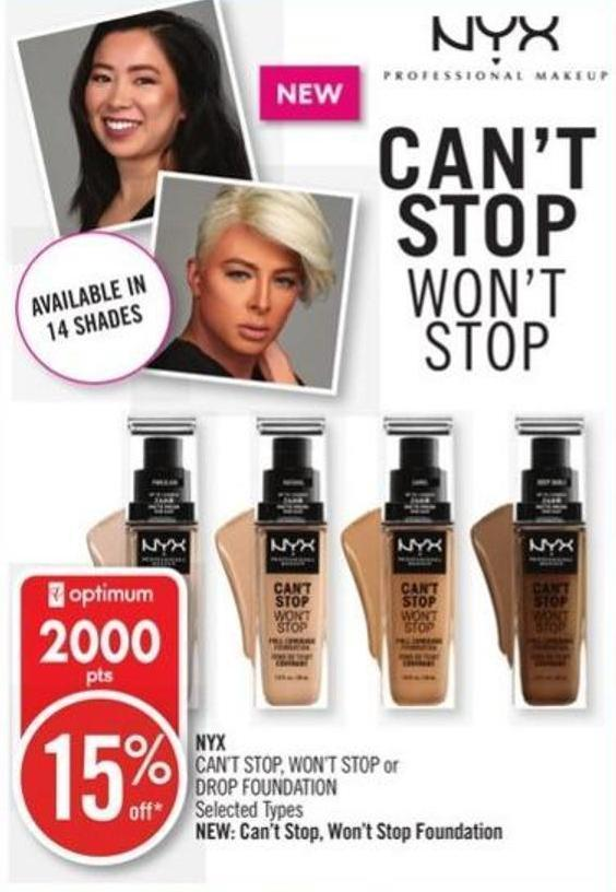 Nyx Can't Stop - Won't Stop or Drop Foundation