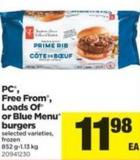 PC - Free From - Loads Of Or Blue Menu Burgers - 852 G-1.13 Kg