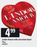 Lindor Amour Milk Chocolate Heart - 72 G
