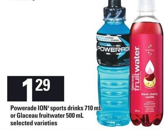 Powerade Ion4 Sports Drinks 710 Ml Or Glaceau Fruitwater - 500 Ml