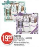Pure Spa Eucalyptus or Lavender Foot Care Set