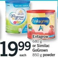 Enfagrow - 680 G Or Similac Gogrown - 850 G Powder