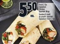 Fresh 2 Go Signature Chicken Souvlaki Wrap