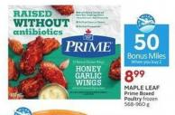 Maple Leaf Prime Boxed Poultry Frozen 568-960 g - 50 Air Miles Bonus Miles