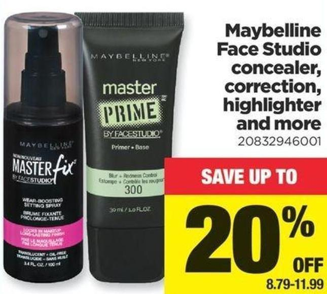 Maybelline Face Studio Concealer - Correction - Highlighter And More