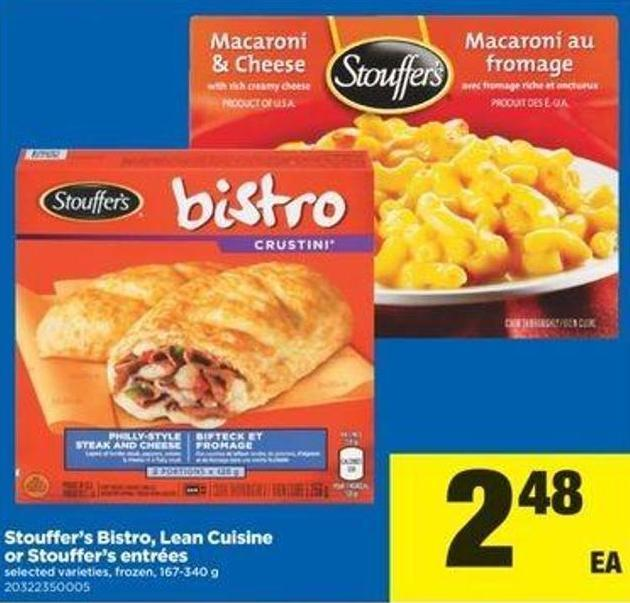 Stouffer's Bistro - Lean Cuisine Or Stouffer's Entrées - 167-340 G