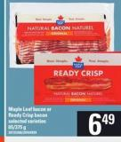 Maple Leaf Bacon Or Ready Crisp Bacon - 65-375 g