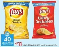Lay's Chips 240-255 g or Poppables 141 g  40 Air Miles Bonus Miles