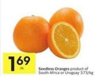 Seedless Oranges Product of South Africa or Uruguay