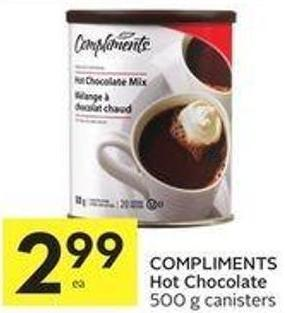 Compliments Hot Chocolate 500 g Canisters