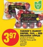 Farmer's Market Empire - Fuji - or Red Delicious Apples - 4 Lb Bag