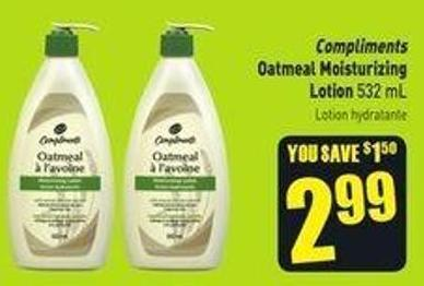 Compliments Oatmeal Moisturizing Lotion 532 mL