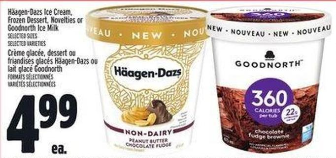 Häagen-dazs Ice Cream - Frozen Dessert - Novelties Or Goodnorth Ice Milk