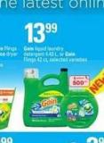 Gain Liquid Laundry Detergent - 4.43 L - Or Gain Flings - 42 Ct