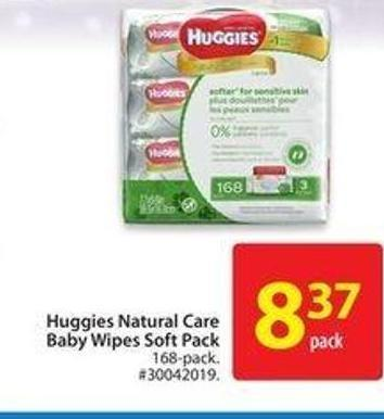 Huggies Natural Care Baby Wipes Soft Pack