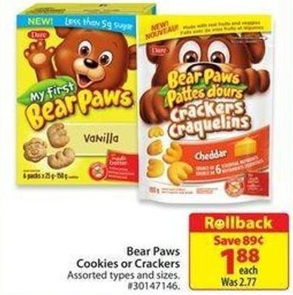 Bear Paws Cookies or Crackersrollback