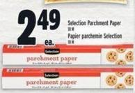 Selection Parchment Paper 10 M