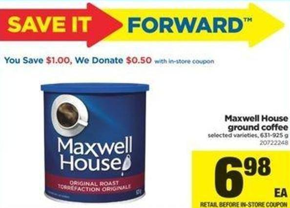 Maxwell House Ground Coffee - 631-925 G