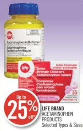 Life Brand Acetaminophen Products