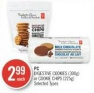 PC Digestive Cookies (300g) or Cookie Chips (225g)