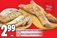 Front Street Bakery Calabrese Bread Or Baguette