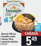 Boursin - 150 G Or Castello Cream Cheese - 125 G