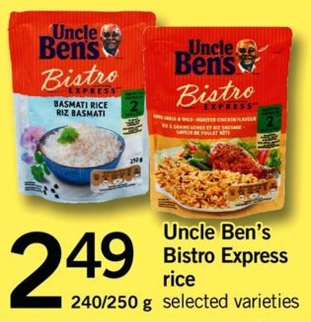 Uncle Ben's Bistro Express Rice - 240/250 g