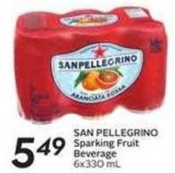San Pellegrino Sparking Fruit Beverage