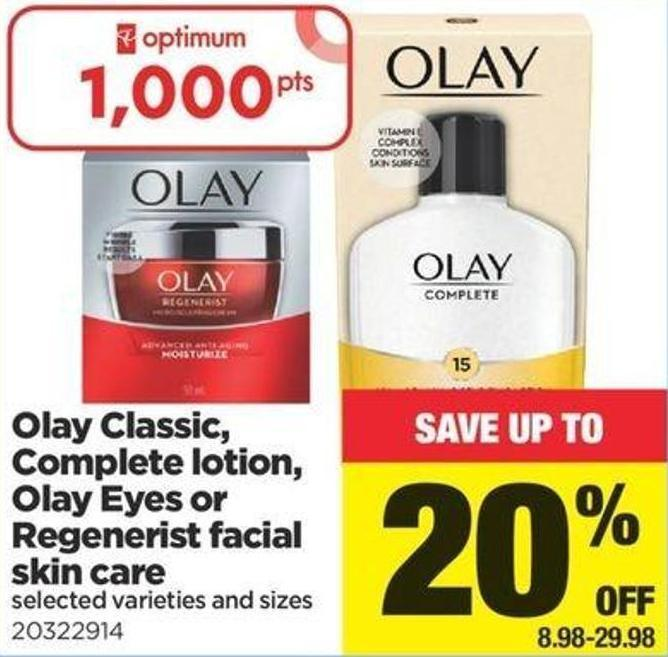 Olay Classic - Complete Lotion - Olay Eyes Or Regenerist Facial Skin Care