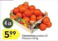 Clementines Product of Morocco 1.8 Kg