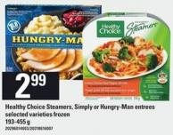 Healthy Choice Steamers - Simply Or Hungry-man Entrees - 193-455 G