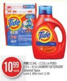 Tide (2.04l - 2.21l) or PODS (23's - 31's) Laundry Detergent