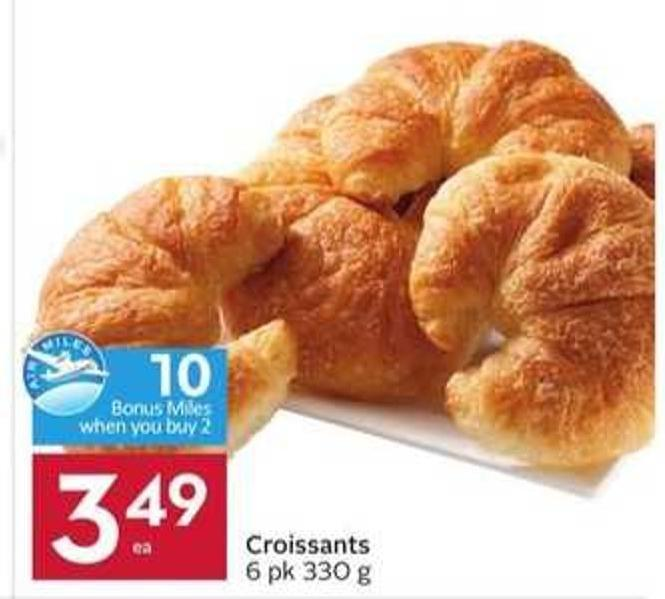 Croissants - 10 Air Miles Bonus Miles