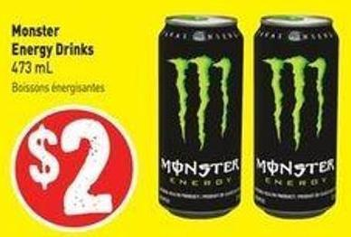 Monster Energy Drinks 473 mL