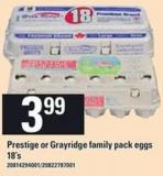 Prestige Or Grayridge Family Pack Eggs - 18's