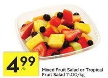 Mixed Fruit Salad or Tropical Fruit Salad